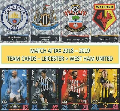 Topps Match Attax 2018 2019 18 19 Choose your LEICESTER CITY team cards