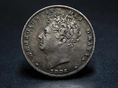 1826 George IV Silver Sixpence Very High Grade
