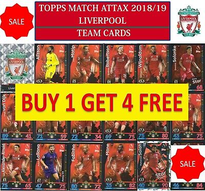 Topps Match Attax 2018 2019 18 19 Choose your LIVERPOOL team cards