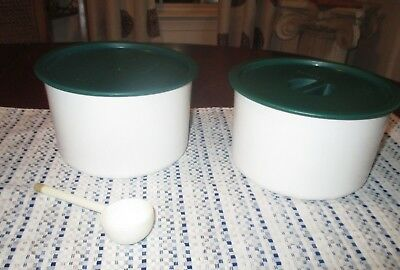 TUPPERWARE 2 piece storage containers with lids