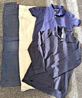 Boys Age 5 Designer Brand Bundle Chaps By Ralph Lauren Trousers And Polo Shirts