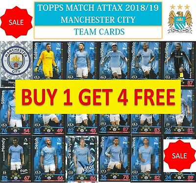 Topps Match Attax 2018 2019 18 19 Choose your MANCHESTER CITY team cards