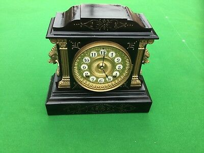 Lovely Antique Cast Mantle Clock. Ansonia clock company. New York USA 1882