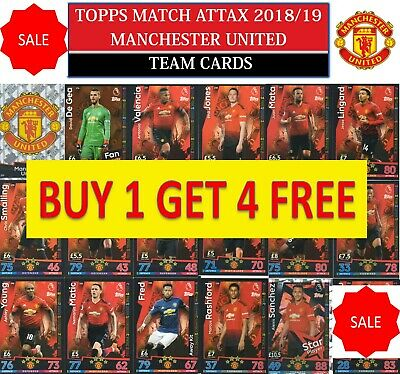 Topps Match Attax 2018 2019 18 19 Choose your MANCHESTER UNITED team cards