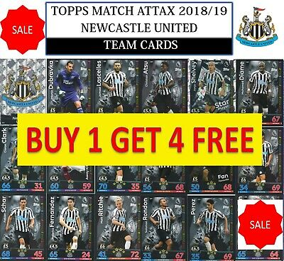Topps Match Attax 2018 2019 18 19 Choose your NEWCASTLE UNITED team cards