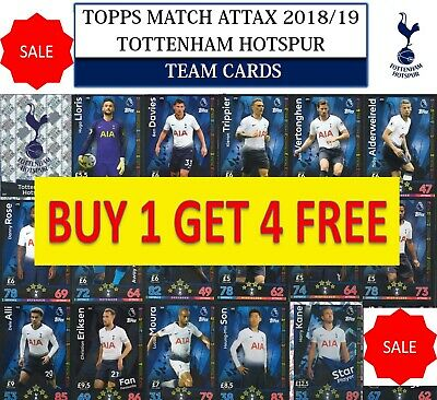 Topps Match Attax 2018 2019 18 19 Choose your TOTTENHAM HOTSPUR team cards