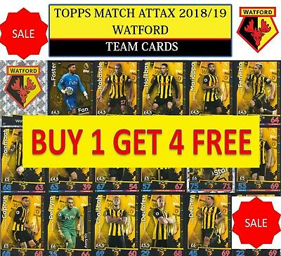 Topps Match Attax 2018 2019 18 19 Choose your WATFORD team cards