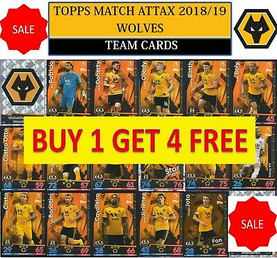 Topps Match Attax 2018 2019 18 19 Choose your WOLVERHAMPTON WANDERERS team cards