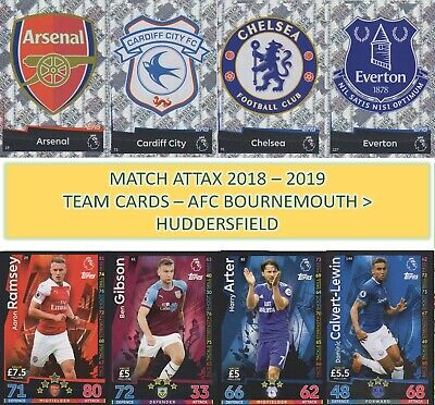 Topps Match Attax 2018 2019 18 19 Choose your AFC BOURNEMOUTH team cards