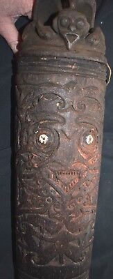 "orig $799.MEGA DAYAK SHAMAN CONTAINER, EARLY 1900S 20"" PROV"