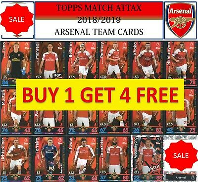 Topps Match Attax 2018 2019 18 19 Choose your ARSENAL team cards