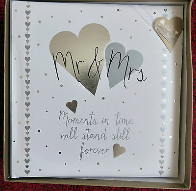 """Mr & Mrs """"Moments In Time Will Stand Still Forever""""  Photograph Album"""