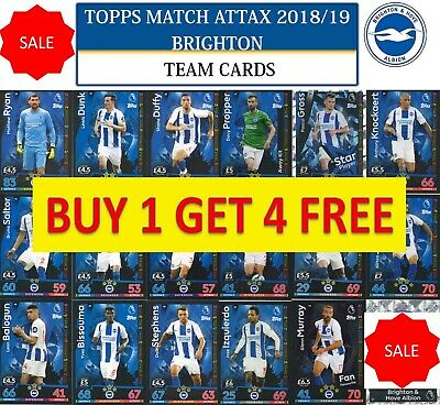 Topps Match Attax 2018 2019 18 19 Choose your BRIGHTON & HOVE team cards