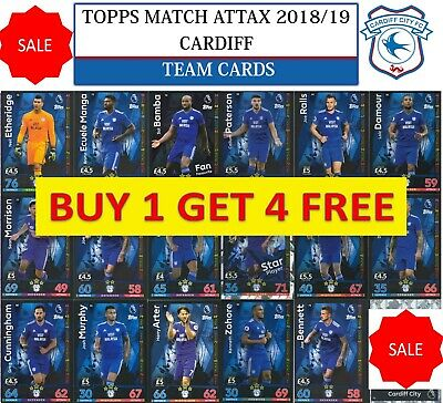 Topps Match Attax 2018 2019 18 19 Choose your CARDIFF CITY team cards