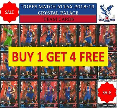 Topps Match Attax 2018 2019 18 19 Choose your CRYSTAL PALACE team cards