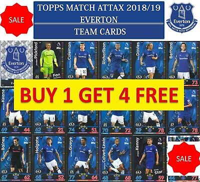 Topps Match Attax 2018 2019 18 19 Choose your EVERTON team cards