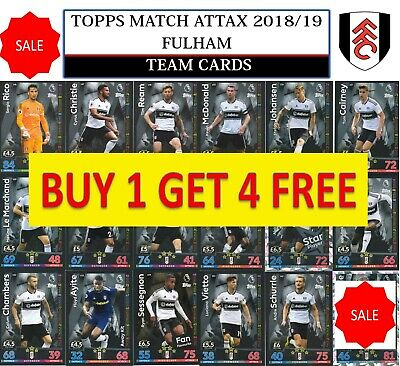 Topps Match Attax 2018 2019 18 19 Choose your FULHAM team cards