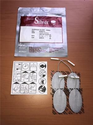 "~Superior Silver 608SS Tens Machine Electrodes 4 Pack 1 1/2"" x 2.5"""