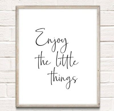 Enjoy The Little Things Typography Print Poster Family Love Unframed Home Quote