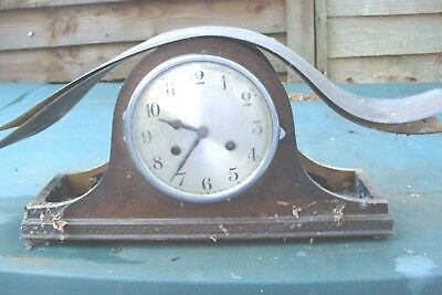 Clock Parts Working Clock  Striking   Good  Spare  Parts Or  Repair