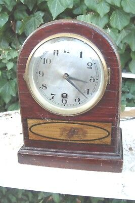 Mantel  Clock Time Piece Only  Working  Key And Pendulum  For Tidy  Up