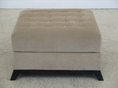 F45466EC: HICKORY CHAIR CO. Large Modern Upholstered Ottoman