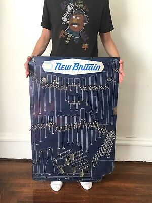 Vtg Napa NEW BRITAIN Hand Tool STORE DEALER DISPLAY RACK Sign Car Gas Oil Shop