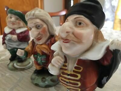Shakespearean Set Of Six Characters. Porcelain Marked Japan.