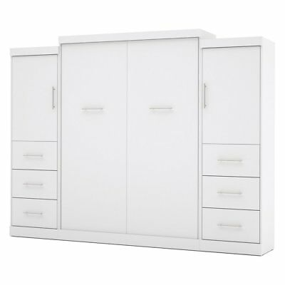 Bestar Nebula Murphy Wall Bed with Attached 3-Drawer and 1-Door Storage Unit