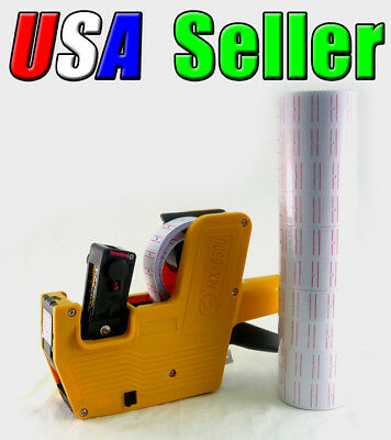 New MX-5500 Price Tag Label Gun with 10 Rolls Labels and 1 extra ink roller