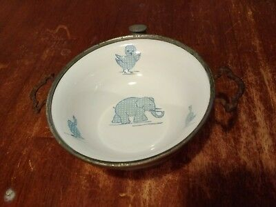 Vintage Circa 1930's Baby Food Warming Feeding Dish Signed GW Co