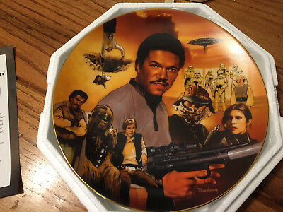 Hamilton Collection Collector Plate - Star Wars Lando Heros And Villians 3599A