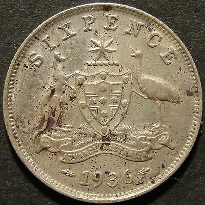 1936 6d.VF(spots)(LotE716616)Free Postage