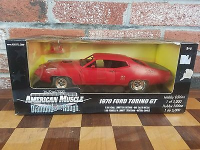 Ertl American Muscle-1970 Ford Torino GT Diamond in the Rough Diecast 1:18 New