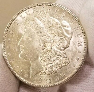 1921 p CHOICE AU/ UNC OR BETTER GORGEOUS!! MORGAN SILVER DOLLAR