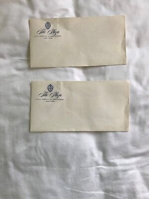 Envelopes [Two] From Plaza Hotel New York City