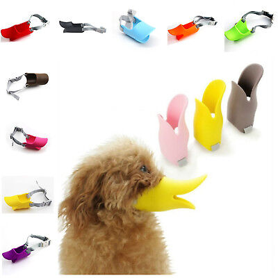 Muzzle For Large Dog Protection Adjustable Silicone Soft Duck Bill Design Gel