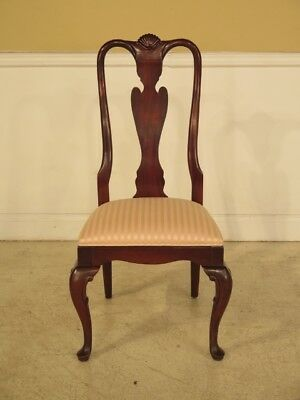 F41587C: CENTURY Queen Anne Mahogany Side Occasional Chair