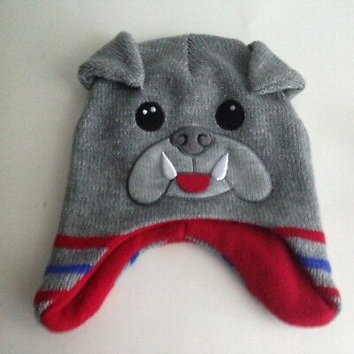 ad33f9c65b0 Child s Knit Winter Hat 2T- 5T Animal Gray Red Blue Kids Hat NWOT Healthtex