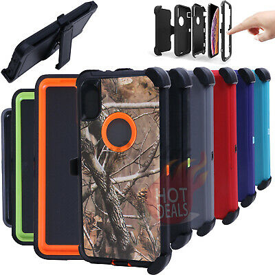 For iPhone XR/XS MAX Defender Case Cover(Clip Fits Otterbox)