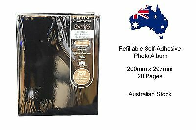 Refillable Self-Adhesive Photo Album - 200mm x 297mm 20 Pages