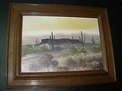 Navajo Artist, Juan Nakai (deceased) 1961 Painting of Superstition Mountains, AZ
