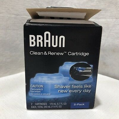 2 Count Braun Clean & Renew Refill Cartridges CCR 2 *New Item in Opened Box*