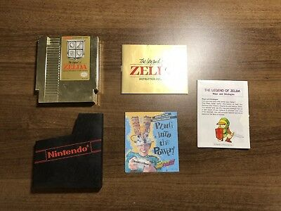 THE LEGEND OF ZELDA NES Complete CIB Cleaned & Tested FAST FREE SHIPPING