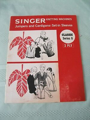 Singer Knitting Machines Classic Series 8 Bk 3 Ply Jumpers & Cardigans Set In Sl