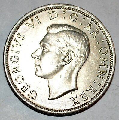 1948 GREAT BRITAIN large HALF CROWN coin BRILLIANT UNCIRCULATED BU
