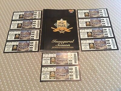 Pittsburgh Pirates 2001 Tickets + Book