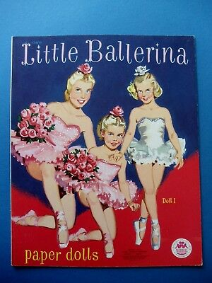 Vintage 1953 LITTLE BALLERINA Paper DOLLS Book Original UNUSED Merrill