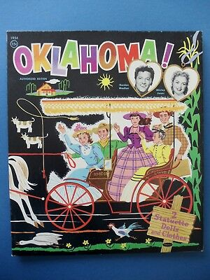 Vintage 1956 OKLAHOMA PAPER DOLLS Folder Gordon McRae Shirley Jones Orig  Unused