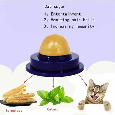 Cat Snack Catnip Fish Glue Sugar Candy Licking Solid Nutrition Energy Ball Toy